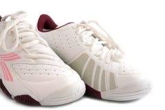 les chaussures folâtrent le blanc Photos libres de droits