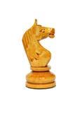 Les échecs de chevalier blanc ont isolé Photographie stock