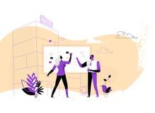 Les chefs de projet ont placé des activités et des tâches sur le conseil illustration de vecteur