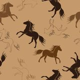 Les chevaux courants Photos libres de droits