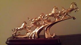 Les chevaux d'or image libre de droits