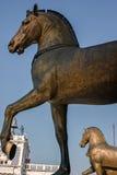 Les chevaux en bronze de St Mark image libre de droits