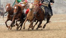 Les chevaux galopants Photo stock
