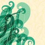 Les cheveux abstraits de fond se courbent et ondulent Images libres de droits