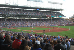 Les Chicago Cubs Wrigley mettent en place le base-ball Diamond Chicago IL Image libre de droits
