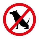 les chiens interdits ont isolé la conception d'icône illustration stock