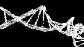 Les chiffres aléatoires de molécule d'ADN de plexus de Digital font une boucle le canal alpha illustration libre de droits