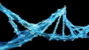 Les chiffres aléatoires de molécule d'ADN de plexus de Digital font une boucle le canal alpha illustration stock