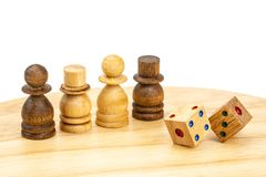 Les chiffres et le double de jeu de jeu de soci?t? d?coupe images libres de droits