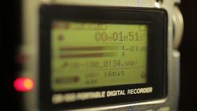Les chiffres fonctionne sur l'écran de magnétophone clips vidéos