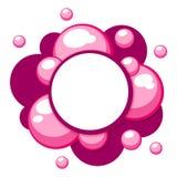 Les childs de Motley vecteur tridimensionnel de calibre de bubble-gum illustration stock