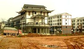 Les Chine-nouvelles zones résidentielles de Mingshan construisent photo libre de droits