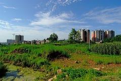 Les Chine-nouvelles zones résidentielles de Mingshan construisent Photo stock