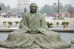 Les Chinois jianzhen la sculpture en moine Photos libres de droits