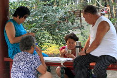 Les Chinois jouent des cartes Photographie stock