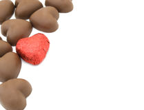 Les chocolats de Valentine Photo stock