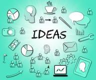 Les choix de moyens d'icônes d'idées choisissent et pensent illustration libre de droits