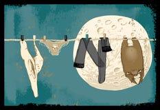 Les choses de sorcière sèchent après lavage Image libre de droits