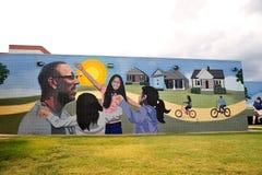 Les choses nous voyons la peinture murale à Memphis, Tennessee Image stock