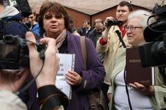 Les chrétiens de croyance sont venus pour soutenir des participants d'émeute de chat Photographie stock libre de droits