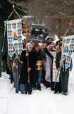 Les chrétiens orthodoxes célèbrent Epithany Photos stock