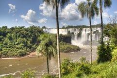 Les chutes d'Iguaçu Photos stock