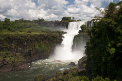 Les chutes d'Iguaçu Photos stock