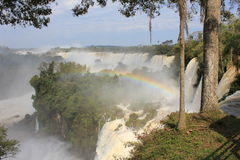 Les chutes d'Iguaçu - arc-en-ciel Photo stock