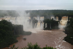 Les chutes d'Iguaçu - cascades Images stock
