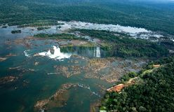 Les chutes d'Iguaçu, Iguazu watervallen image stock