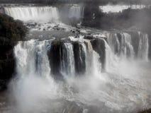 Les chutes d'Iguaçu - le Brésil Photographie stock