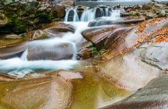 Les chutes de forêt d'automne images stock