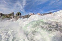 Les chutes du Rhin Image stock