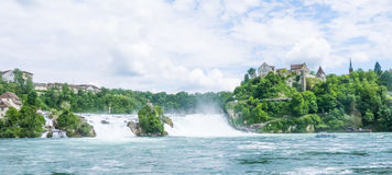Les chutes du Rhin Photographie stock