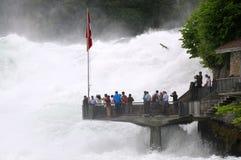 Les chutes du Rhin photo stock