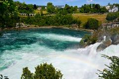 Les chutes du Rhin dans Schaffhausen, Suisse Photographie stock