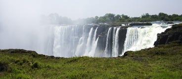 Les chutes Victoria au Zimbabwe Photographie stock libre de droits
