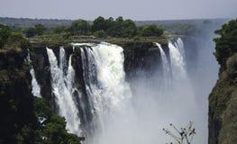 Les chutes Victoria au Zimbabwe Image libre de droits