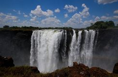 Les chutes Victoria Zimbabwe Photographie stock libre de droits