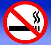 Les cigarettes non-fumeurs ont interdit interdit interdit Image stock