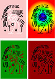 Les cigognes des Indiens d'Amerique illustration stock