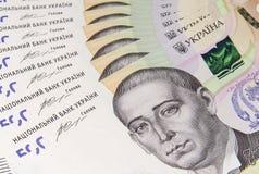 Les cinq cents billets de banque ukrainiens de Hryvnias de la nouvelle fin d'échantillon