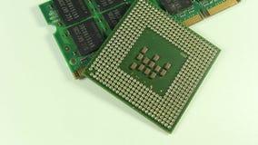 Les circuits électroniques plan rapproché, macro clips vidéos