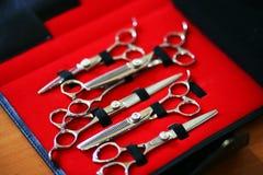 Les ciseaux de coiffeur ont placé Images libres de droits