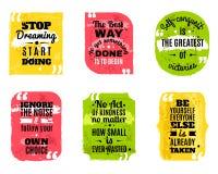 Les citations célèbres ont coloré les icônes texturisées réglées illustration de vecteur