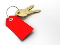 les clés étiquettent le rouge illustration libre de droits