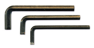 Les clés d'Allen balayées metal la texture Images libres de droits