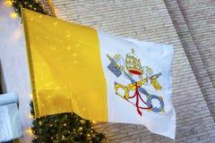 Les clés papales marquent la basilique Vatican Rome Italie du ` s de St Peter Image stock