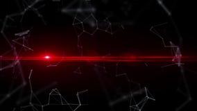 Les clignotements à rayon laser s'approchent des microparticules blanches illustration libre de droits