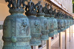 Les cloches au temple de la Thaïlande Images libres de droits